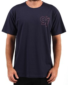 GRAND FLAVOUR Loop T Shirt - Navy