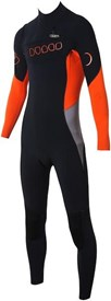 Dunes Ben Player Superior Chest Zip Steamer -3/2mm Black/ Orange/ Grey
