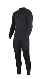 ZION WETSUITS Yeti 4/3mm Liquid S-Sealed Zipperless Steamer - Graphite / Black - Winter 2016 Range
