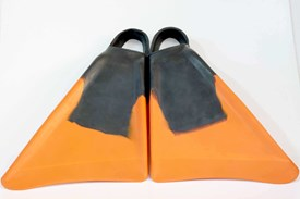 4PLAY FINS - Black/ Orange
