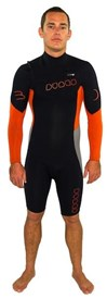 Dunes BP Chest Zip 2/2mm GBS Long Sleeve Springsuit  Black/ Orange/ Grey - 2013 Winter