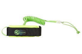 CREATURES OF LEISURE Ryan Hardy Bicep Leash - Lime/Clear (Lime Cuff)