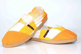 Applegator Shoes - Orange Stripe