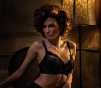 Pleasure State VIP (DD -G) Dahlia May Contour Plunge Bra - Black