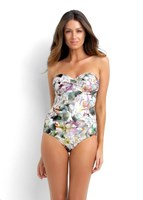 Isola by Megan Gale Wildflower D Twist Bandeau Maillot Swimwear