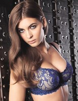Fauve Chloe Half Cup Bra in Electric Blue