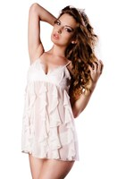 The Blonde Boudoir Party Chemise (Ivory)