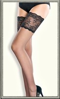 Collette Dinnigan Bridal and Boudoir Hosiery Lace Top Stay Up.(Black and Ivory)