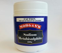 Morgans Sodium Metabisulphate 500g