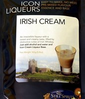 SS Irish Cream Icon Top Up Liqueur Kit with Cream Base