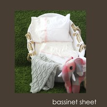 Just Sprouted -Bassinet Sheet -Pink Teddy Bears