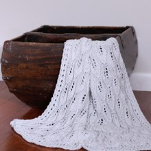 Just Sprouted - Hand Knitted Blanket Leaf - Stone
