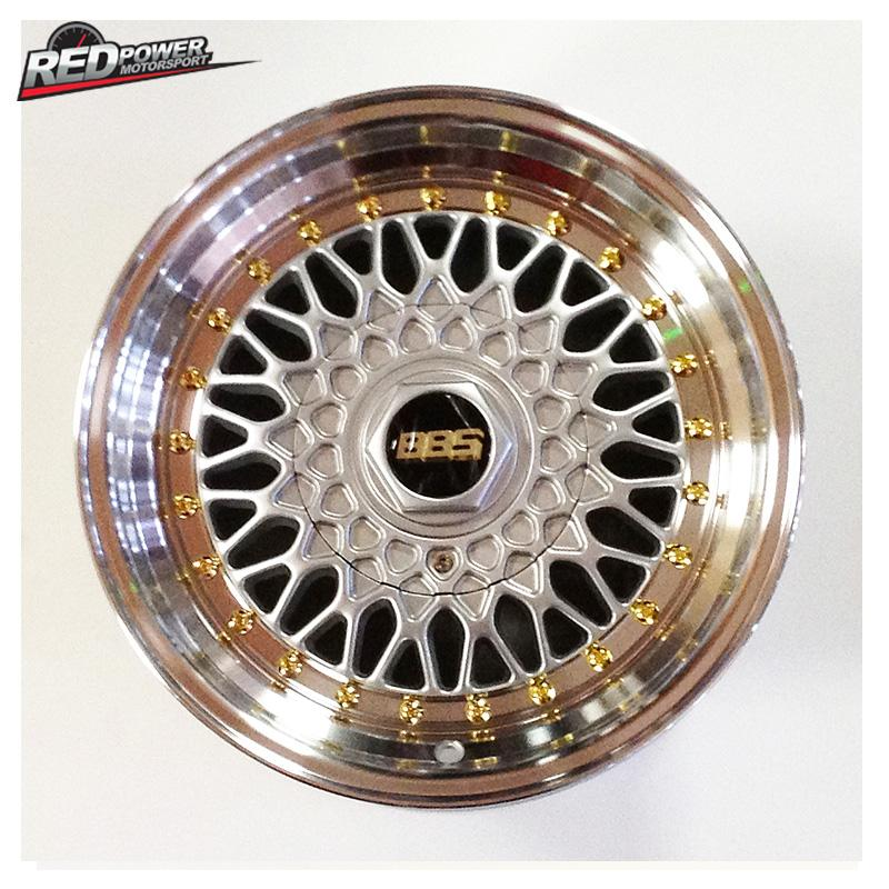 BBS RS style alloy wheels- 15x7-4x100/114.3-(silver,gold ...