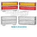 LED Trailer Light Kit 200CCARLPM2 Chrome with Clear Lens