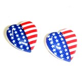 Stars & Stripes Heart Earrings