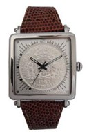 Coinwatch Gen-X Collection Mens Silver Australian Florin with Brown snake band