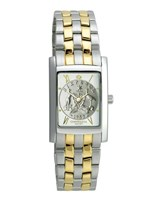 Coinwatch Elegance Collection Womens Silver (Small) Australian Sixpence with 2-tone bracelet
