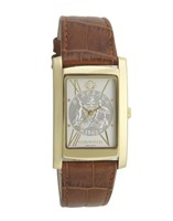 Coinwatch Elegance Collection Gold Australian Sixpence with Brown leather band