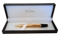 i-Scribe - Curtin Gold Checked Ballpoint
