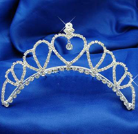 Contoured  Tiara, Colours: Silver, Gold, 4113