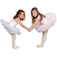 Girls Princess Line Tutu, (Budget Range), White