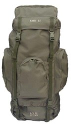New Army Military Style Hiking Outdoor Backpack Rucksack Bergen Daypack - Olive