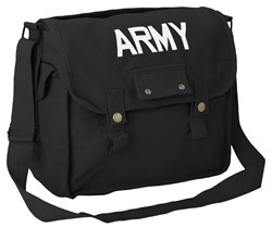 Large Cotton Canvas Bag 'Army' Printed