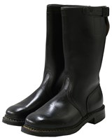 German Army Boots Black Leather