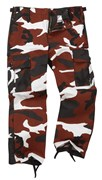 Colourful Camo Kid/Youth Combat Trouser Red