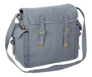 Canvas Webbing Messenger Bag with Pockets
