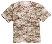 100% Cotton Basic Military Style T-shirt -Digital Pink