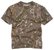 100% Cotton Basic Military Style T-shirt -Tree Bark-Mossy Oak
