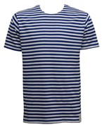Russian Striped Short Sleeve T-shirt Royal Blue