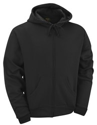 Quality Basic Zipped Hoodie Black