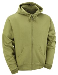 Quality Basic Zipped Hoodie Green