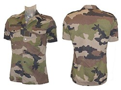 French Army Issued Short Sleeved Camouflage Shirt