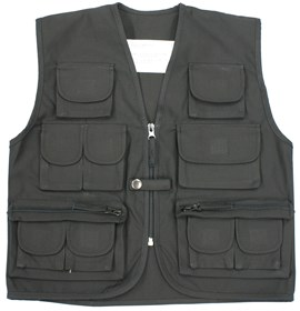Kids Multi-Pocket Fishing Vest Black
