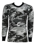 US Long Sleeve Tactical Military Army T-Shirt