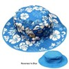 Baby or Kidz  Banz Reversible Sun Hat - Blue / White