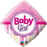 Baby Girl Diamond Balloon In A Box