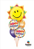 A Little Birthday Sunshine Balloon Bouquet