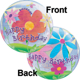 Flower Birthday Bubble Balloon