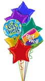 Get Well Stars Balloon Bouquet