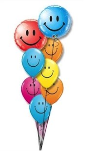 Colourful Smiley Balloon Bouquet