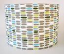Fabric lampshades in organic cotton leaves design