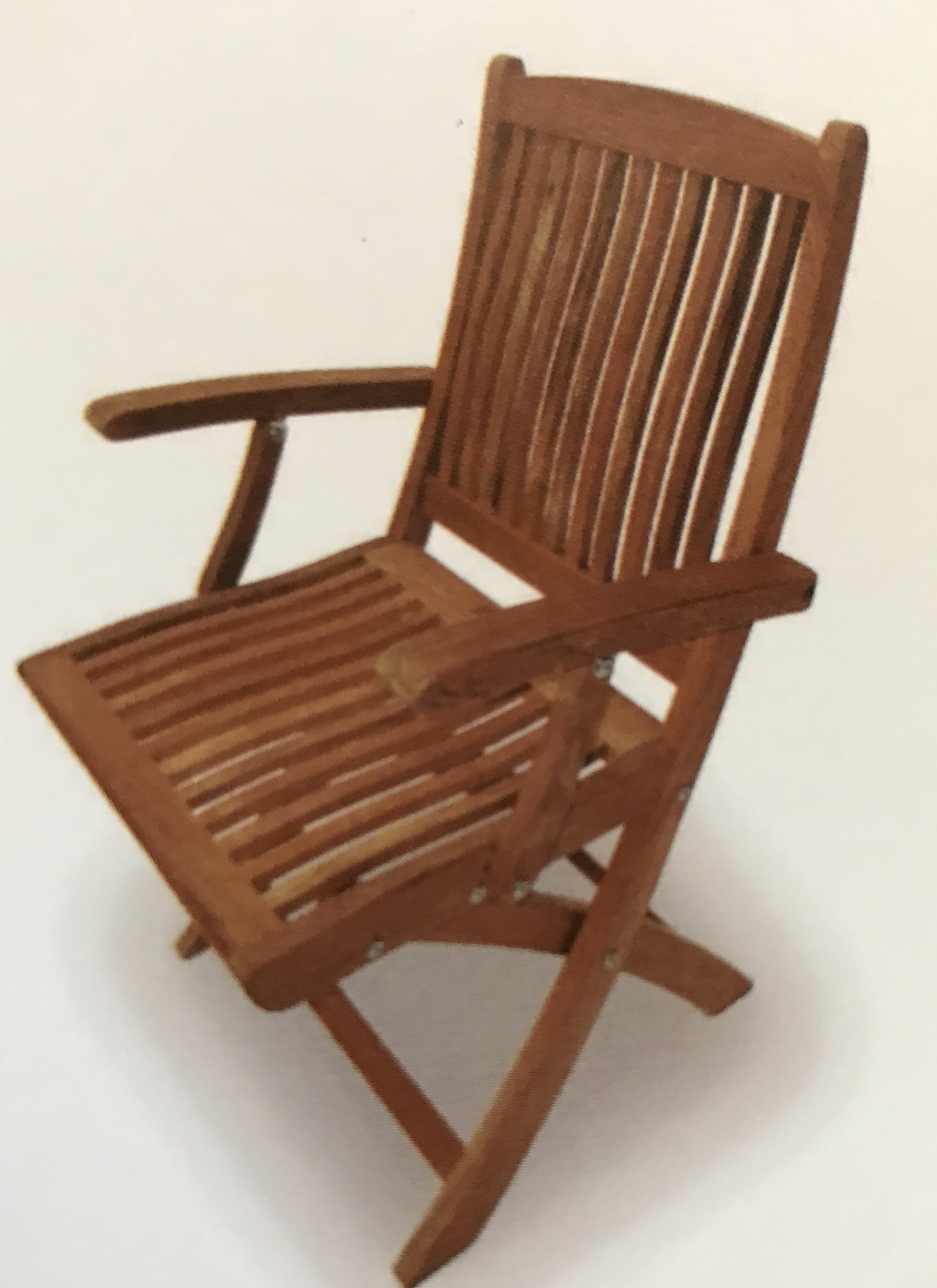 ROYAL TEAK COLLECTION TEAK SAILOR FOLDING ARM CHAIR SFC