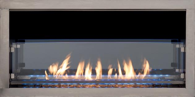 Superior 36 Linear Outdoor Gas Fireplace Insert Single Sided Or