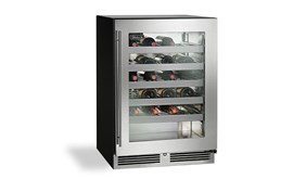 """Perlick 24"""" C Series Indoor Single Zone Wine Reserve With Stainless Steel Glass Door Hinge Right -HC24WB-3-3R"""
