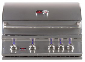 """BONFIRE 4 BURNER 34"""" BUILT IN PREMIUM GRILL WITH ROTISSERIE AND LIGHTS MODEL#BONFIRE 4 - (CLOSEOUT / OPEN BOX / DISPLAY MODEL)"""