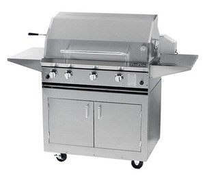ProFire Professional Series 36-Inch Freestanding  Gas Grill With Rotisserie - PF36R + PF36SSCBP -